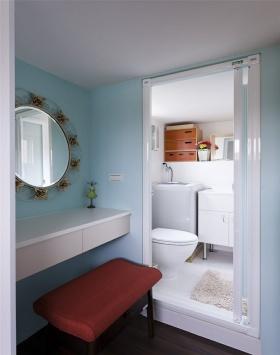 舒适宜家风格蓝色卫生间装潢设计