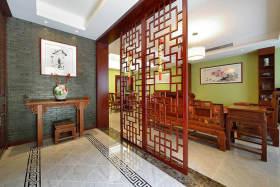 古朴中式风格玄关装饰图