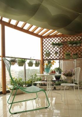 优雅自然简约风格阳台设计图片