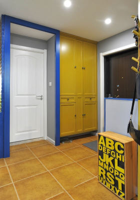 创意撞色混搭风格收纳柜装潢装饰设计图片