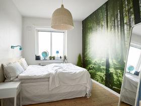 宜家风格时尚白色卧室美图欣赏