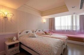 粉色混搭卧室飘窗装饰案例