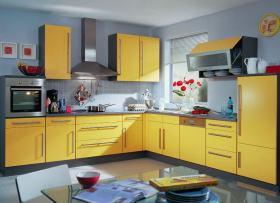 黄色混搭风格厨房效果图赏析