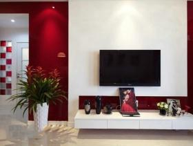 温馨现代风格新房客厅背景墙图片