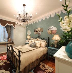 美式风格白色诗意卧室欣赏