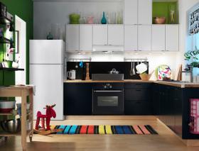 多彩时尚混搭厨房装修效果图