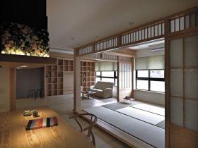 米色日式禅意淡雅休闲榻榻米装修效果图