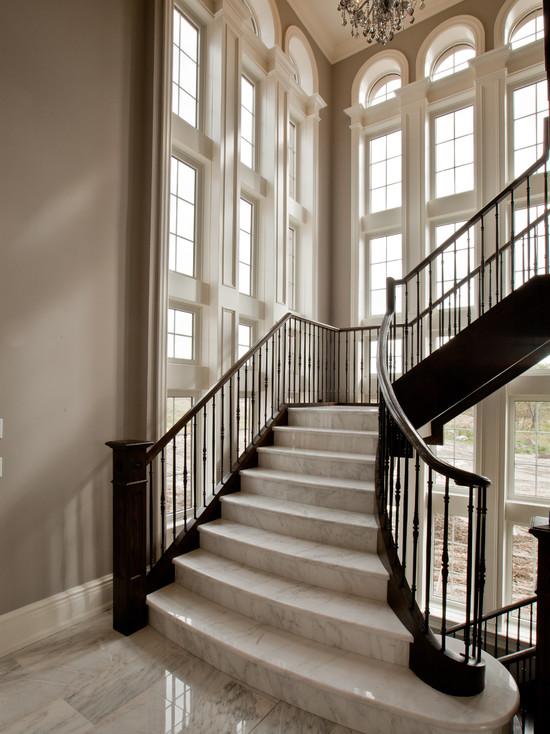 华丽优雅大气白色欧式风格楼梯设计赏析