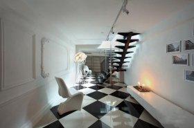 经典黑白雅致时尚简约过道设计图片
