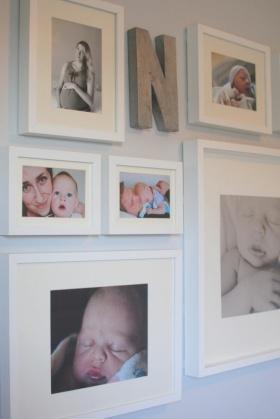可爱简约风格照片墙装修图
