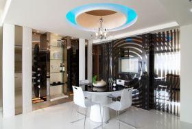 创意时尚白色现代风格餐厅吊顶设计图