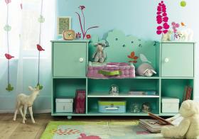 多彩缤纷可爱混搭风格儿童房图片赏析