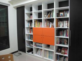 现代书房背景墙效果图欣赏