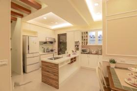 简约风格清爽白色厨房装修图片