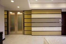 美式风格创意雅致橙色背景墙装潢欣赏