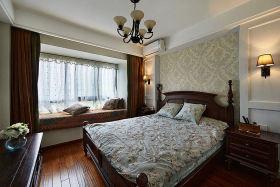 中式卧室飘窗装潢设计