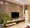灰色现代风格客厅背景墙设计图