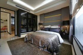 黑色现代风格卧室装修效果图片