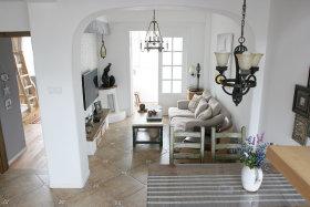 宜家风格米色休闲客厅效果图欣赏