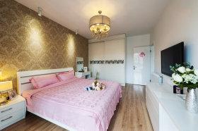 粉色现代风格卧室图片赏析