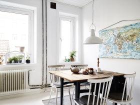 宜家风格白色餐厅设计案例