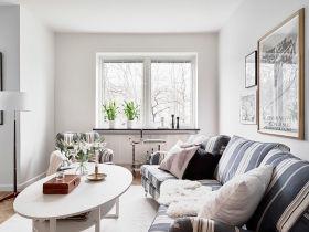 简欧白色雅致客厅装修设计