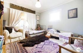 浪漫温馨混搭风格紫色儿童房装修效果图
