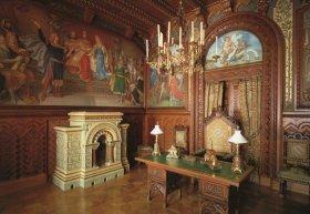 复古欧式宫廷风格书房设计