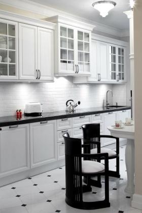 清爽纯粹田园风格白色厨房美图赏析