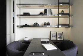 灰色都市凝练现代风格书房设计图片
