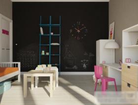 现代风格黑色儿童房装修设计图片