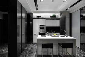 凝练时尚现代风格灰色吧台装修图