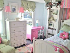 甜美清新简欧风格儿童房装饰设计图片