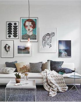 文艺清新混搭风格照片墙图片