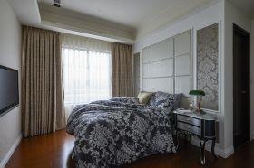 灰色混搭卧室窗帘设计案例