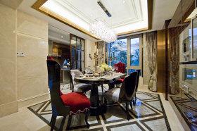 欧式米色雅致餐厅图片欣赏