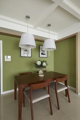 绿色清新雅致田园风格餐厅吊顶设计图片