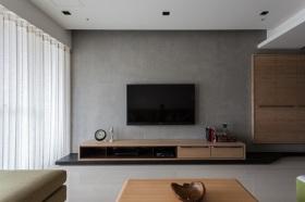 灰色休闲现代风格客厅背景墙美图欣赏