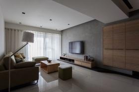 现代风格灰色休闲客厅装修图