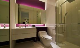 米色时尚现代卫生间设计赏析