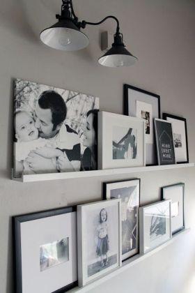 温馨黑白经典混搭照片墙装修布置
