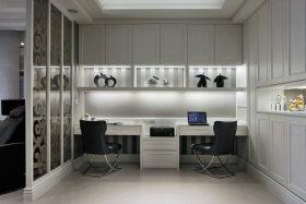 精致时尚现代风格白色书房装潢设计