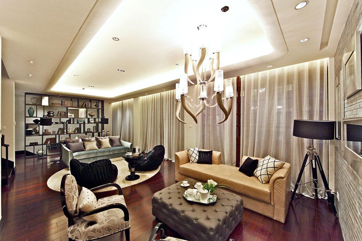 欧式灰色雅致客厅装修设计