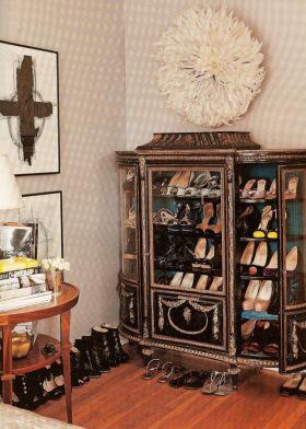 2016精致时尚混搭风格鞋柜装修图片