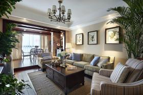 混搭风格黄色客厅装修效果图片