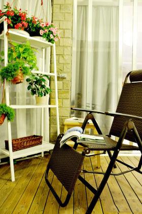 浪漫时尚简约风格阳台装潢设计