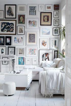 白色清爽简约风格照片墙装修效果图
