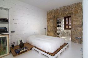白色混搭风格卧室美图欣赏