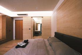 橙色混搭风格卧室装潢案例