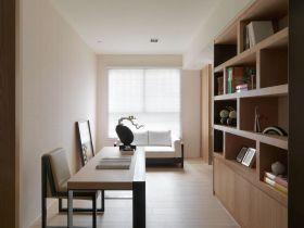 休闲简约白色书房装潢设计图片